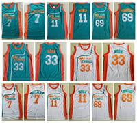 funky hemden großhandel-Mens Flint Tropics Semi Pro 33 Jackie Mond 11 Monix 7 Kaffee Schwarz 69 Downtown Funky Stuff Malone Basketball Jersey Moive Shirts