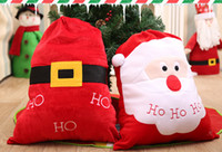 mochila de manzana al por mayor-Nuevas decoraciones navideñas Santa bolsa de regalo Bolsa de Apple Mochila Santa