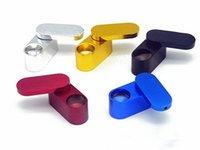 ingrosso tubi di fumo pieghevoli-Nuovo design 5 colori rotante in metallo tubo piccolo portatile mini pieghevole in metallo tubo fumatori creativo