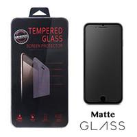 iphone mat cam toptan satış-2.5d parlama önleyici mat buzlu temperli cam ekran koruyucu film iphone 7 8 x xr xs perakende kutusu ile max