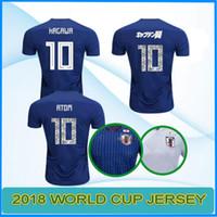 Wholesale Japan 18 - 2018 TSUBASA Soccer Jerseys World Cup ATOM 18 19 JAPAN Home Away KAGAWA ENDO OKAZAKI NAGATOMO HASEBE KAMAMOTO Football Shirts