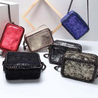 Wholesale camera cross - Newest Weaving Chain Women Messenger Bag Small Flap Camera shoulder bag black Handbag female crossbody bags little bag ladies 6colors