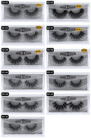 Wholesale individual lashes set - 3D Mink Eyelashes Eyelashes Messy Eye lash Extension Sexy Eyelash Full Strip Eye Lashes By chemical fiber 10 set By e packet
