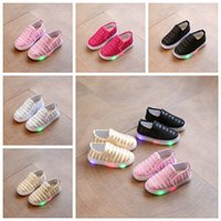 Wholesale wholesale children shoes for sale - 5 Colors Children LED Glitter Sneakers Sequins Flats Shoes With Light Kids Lighted Shoes Toddler Boy Flashing Girls Running Shoes AAA449