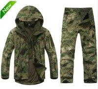 équipement de vêtements de plein air achat en gros de-TAD Tactical Gear Doux Shell Camouflage À L'extérieur Veste Ensemble Hommes Armée Décontractée Imperméable Hunter Chaud Vêtements Vêtements Randonnée