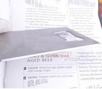 визитные карточки размера оптовых-100шт/много DHL Fedex Бесплатная доставка бумажник размер нержавеющей стали кредитные карточки открывалка для бутылок визитная карточка пива замков