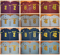 Wholesale arizona states - NCAA Arizona State Sun Devils 42 Pat Tillman Jersey Men Red Black Gray 2 Mike Bercovici 8 DJ Foster College Football Jerseys Stitched Men