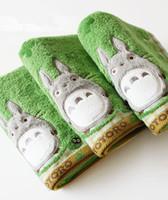 toalhas de banho bordadas crianças venda por atacado-2018 Qualidade Bebê Algodão Dos Desenhos Animados Totoro Toalha de Rosto Toalha de Bebê Toalha de Lavar Lenços De Pano Alimentação Infantil Saliva