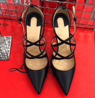Wholesale Christmas Ribbon Bands - Women's sandals. Women's Brand V Fashion Dress High Heels Rivet Patent Matte Leather Sexy Water Pump (3 Colors) Size EU35-42