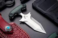 Wholesale mini push - High End Push Dagger mini Fixed Blade Knife small Fixed blade tactical EDC pocket knife D2 Satin Double Action Blade EDC Tools