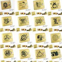 brieftasche clip großhandel-Harry Potter Hufflepuff Geldbörse Slytherin Ravenclaw Geldbörse PU Leder braun Kreditkarte Brieftasche Gryffindor Geldscheinklammer Partei GGA811