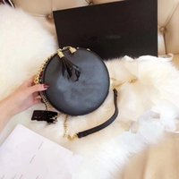 Wholesale friendly cards case - 2018 New Fashion round shoulder case makeup bag PU good quality with card and dust bag(Anita)