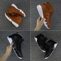 Wholesale Threading Gloves - 2018 With Box Mens Basketball Shoes Sneakers Baseball Glove Brown Black Aquot with Number 35 45 Leather Size US8-13