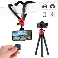 Wholesale tripod stand for dslr online - 12 Inch Flexible Octopus Tripod Spider Stand Holder Phone Holder Phone Remote Controller Action Camera Connector for DSLR ILDC Camera