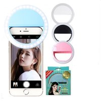 luz de flash para cámara al por mayor-Selfie Ring Light Selfie Portable Led Flash Flash Led Cámara Cámara Ring Ring Light Fotografía de mejora para Smartphone iPhone Samsung