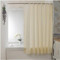 Wholesale peva curtain for sale - Group buy Plain Waterproof PEVA Bathroom Shower Curtain Button Holes Beige cm Shower Curtains Bathroom Accessories