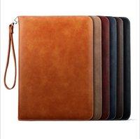 almofadas de maçãs ipad venda por atacado-Estojo de couro PU Estilo Livro Casos para iPad Mini 2 3 4 Caso Stand 9.7 polegada iPad Pro Air 2 Capa Dobrável