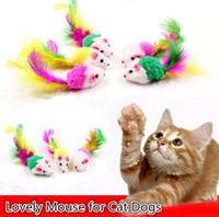 divertidos juguetes para jugar mouse al por mayor-Gatos juguetes para gatos Ratón encantador para perros divertidos Divertidos jugando contienen juguetes para mascotas Catnip Suministros de colores mezclados 5000pcs / lot Mouse toys I204