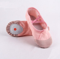 Wholesale ballet shoes girls - 20 sizes child adult canvas ballet dance shoes slippers pointe dance gymnastics ballet dance shoes for kids adult