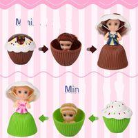 Wholesale Mini Fruit Rubber - Mini Cupcake Doll Fruits Aroma Cake Princess Dolls Reversible Magic Toys Popular For Girls Birthday Originality Gifts High Quality 3 8xr Z