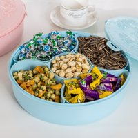 Wholesale Blue Plastic Tape - Storage Bins Engraved Round Candy Nut Snack Box Big-capacity Fruit and Dried Fruit Box Holding Tape Cover Sealing Ring