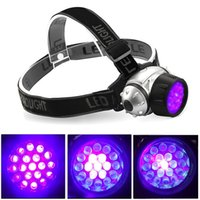 Wholesale 19 LED UV Headlamp Light Modes Adjustable UV Light for Detects Scorpions Pet Urine Stains Auto Oil and HVAC Leaks