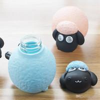 ingrosso bottiglie di acqua calda animale-Lovely Water Bottles 300ml Cute Animal Shape Tazza di vetro Conveniente Tazza Regalo dei bambini Vendita calda Tolleranza 9zw dd