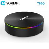 Wholesale iptv box online - T95Q GB GB GB Android LPDDR4 Amlogic S905X2 TV BOX Quad Core Dual Wifi BT4 H IPTV Smart Box