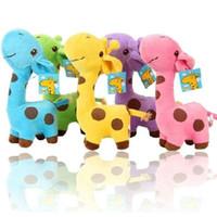 Wholesale Yellow Cute Teddy Bear - 1 PC Unisex Cute Gift Plush Giraffe Soft Toy Animal Dear Doll Baby Kid Child Girls Christmas Birthday Happy Colorful Gifts