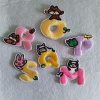 ingrosso ricamate di panno-Computer Ricama Panno Pasta Artigianato Colore Fumetto inglese Lettera Patch per abbigliamento Badge Sticker Alta qualità 0 3yh Ww