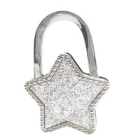 Wholesale handbag holders for tables - Handbag Hook Bag Holder Stars Hook Purse Hanger Table Handbag Holder Bag Purse for Table Foldable Desk Hanger