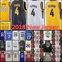 Wholesale Ball Stops - 2018 New 4 Victor Oladipo Jersey Men's joel embiid Ben Simmons Lonzo Ball Bryant Kevin Basketball Jerseys stitched Embroidery Jersey
