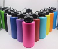 Wholesale steel stocks - 13colors 18oz 32oz 40oz Water Bottle Vacuum Insulated Bottle 304 Stainless Steel Water Bottle Wide Mouth Big Capacity Travel Mugs with lids
