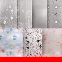 cam balkon toptan satış-Kalınlaşma Windows Sticker Tuvalet Banyo Balkon Cam Isı Yalıtım Kapı Çıkartmalar Su Geçirmez Duvar Kağıdı Ev Dekor Sıcak Satış 3yw gg