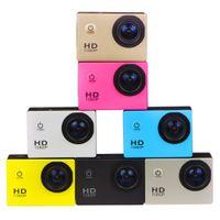 wasserdichte kamera professionelle großhandel-Geben Sie Sendung DHL-2019 frei Neue Freistil 2inch LCD 1080P volle Aktionskamera 30 Meter imprägniern DV-Kamerasportsturzhelm SJcam DVR0001