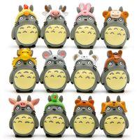 ingrosso figura zodiaco-My Neighbor Totoro Zodiac Set 12 pezzi Carino 4 cm Mini Dolls Anime giapponesi Action PVC Figure regalo per bambini