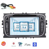 Wholesale Ford Car Radios - Backup Camera+WiFi 7'' Android 7.1 Car DVD Navigation GPS Stereo for Ford Car AM FM Radio WiFi 3G 4G Bluetooth Mirrorlink USB