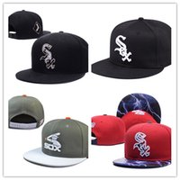 Wholesale Bills Snapback - New Caps 2018 Chicago basketball Snapback Caps Leather Bill Hats Black Color Team Hat Snapbacks Mix Match Order All Caps Top Quality Hat