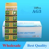 bateria da pilha botão lr41 venda por atacado-10 pçs / lote AG3 botão baterias de celular 392 assistir bateria LR41 SR41W 192 GP192A LR736 bateria alcalina moeda