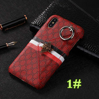 Wholesale wallet phone case mix online – custom IPhone X luxury case Fashion Luxury Popular Mobile Phone Shell Metal Bee Wallet Back Cover Case for IPhone plus plus