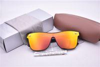 siyah tırnak modası toptan satış-Erkekler Kadınlar için YENI Moda Pirinç tırnak Güneş Gözlüğü Sürüş Noktaları sunglass Siyah Çerçeve Gözlük altın lens Güneş Gözlükleri UV ...