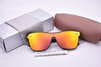 ingrosso riso nero-NOVITÀ Fashion Rice nail Occhiali da sole per Uomo Donna Driving Points Occhiali da sole Black Frame Occhiali da vista Occhiali da sole Occhiali da sole UV 4440 con custodia