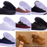 ingrosso quelle scarpe-Nike air force one 1 Le nuove donne classiche degli uomini che forzano  air 1 pattini correnti di Air Shoes famosi pattini di Skateboarding di sport bianco nero Eur 36-46 Trasporto libero