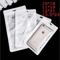 прозрачная пластиковая подвесная упаковка оптовых-Zip Lock сумки молния розничная упаковка ясно прозрачный мешок сотовый телефон для iPhoneXs 7 Samsung S8 s9 случае пластиковые упаковки сумки повесить отверстие Pouche