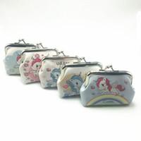 Wholesale small cute women coin purse - Unicorn Coin Bag Women Coin Purses Cartoon wallet fashion Pattern Cute Small Bag Clutch Zero Wallet