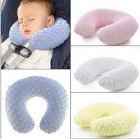 Wholesale u shaped seating - Kids Neck Pillow Baby Car Inflatable Pillows Infant Cartoon U Shape Pillows Travel Air-filled Pillow Travel Car Seat Pillow Cushion KKA3909
