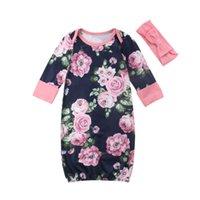 bebé durmiendo mameluco al por mayor-EE. UU. Lindo bebé pañales bolsas de dormir venda suave recién nacido infantil mameluco algodón Swaddle ropa flor