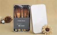 Wholesale iron box brush for sale - 2018 Makeup Brushes Nude3 Pieces Professional Cosmetic Brush Sets Makeup with Iron Box hiigh quality