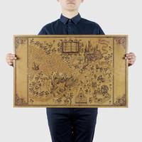 alten kasten großhandel-Karte der Zauberwelt der Filmplakate Dekoration Frameless Restoring Ancient Ways Wandaufkleber 33 * 51CM