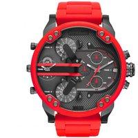 Wholesale Cheap Big Dial Watches - Wholesale Cheap Price Red Men's Sport Wristwatch Big Dial Quartz Movement Gift Time Clock Watch Fashion Luxury BRAND Watch